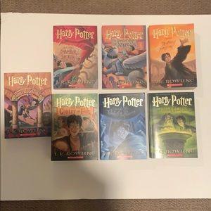 Harry Potter book set, books 1-7 paperback
